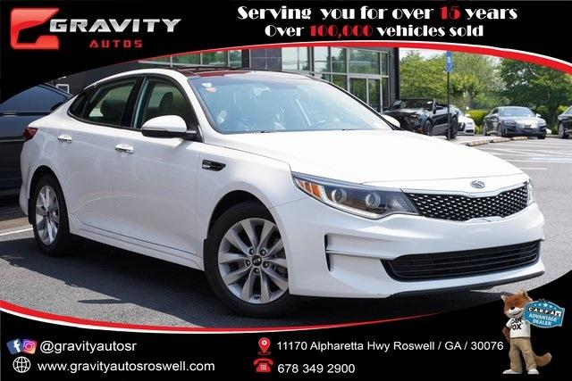 Used 2017 Kia Optima EX for sale Sold at Gravity Autos Roswell in Roswell GA 30076 1