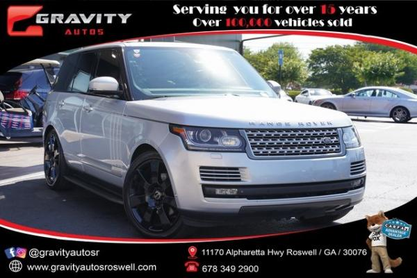 Used 2015 Land Rover Range Rover 3.0L V6 Supercharged HSE for sale $47,996 at Gravity Autos Roswell in Roswell GA