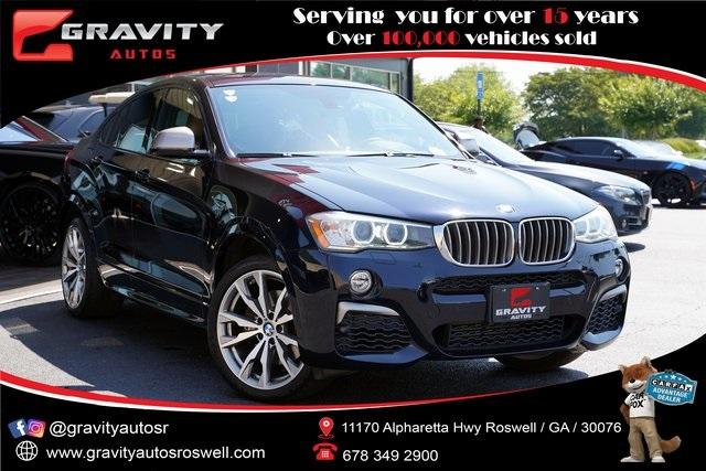 Used 2017 BMW X4 M40i for sale $38,996 at Gravity Autos Roswell in Roswell GA 30076 1