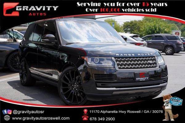 Used 2017 Land Rover Range Rover 3.0L V6 Turbocharged Diesel Td6 for sale $53,992 at Gravity Autos Roswell in Roswell GA