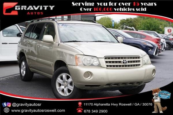 Used 2002 Toyota Highlander V6 for sale $8,991 at Gravity Autos Roswell in Roswell GA