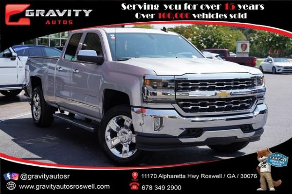 Used 2018 Chevrolet Silverado 1500 LTZ for sale $40,992 at Gravity Autos Roswell in Roswell GA