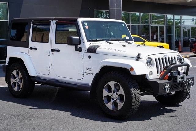 Used 2018 Jeep Wrangler JK Unlimited Sahara for sale $43,991 at Gravity Autos Roswell in Roswell GA 30076 7