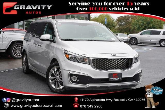 Used 2018 Kia Sedona SX Limited for sale $31,991 at Gravity Autos Roswell in Roswell GA 30076 1