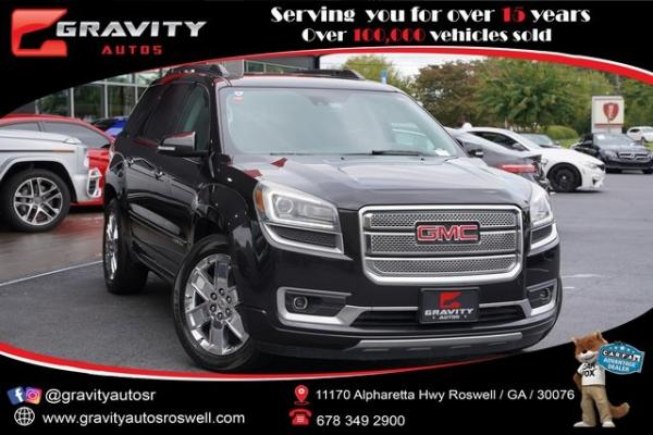 Used 2015 GMC Acadia Denali for sale $25,991 at Gravity Autos Roswell in Roswell GA
