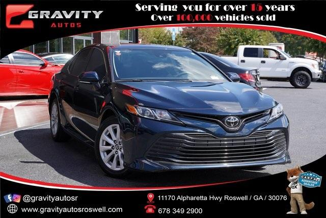 Used 2020 Toyota Camry LE for sale Sold at Gravity Autos Roswell in Roswell GA 30076 1
