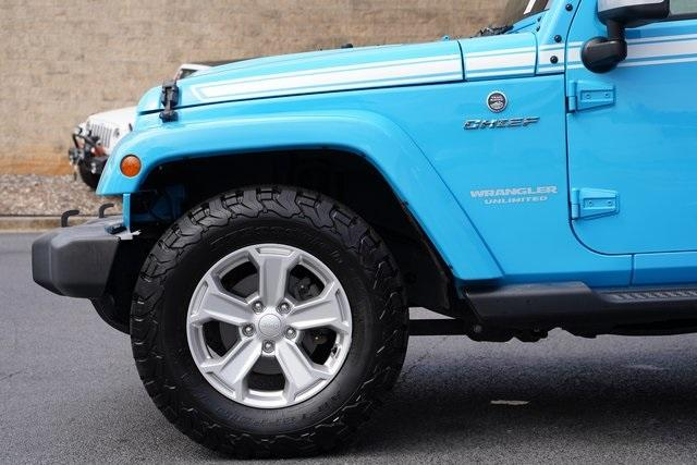 Used 2017 Jeep Wrangler Unlimited Sahara for sale $39,992 at Gravity Autos Roswell in Roswell GA 30076 11