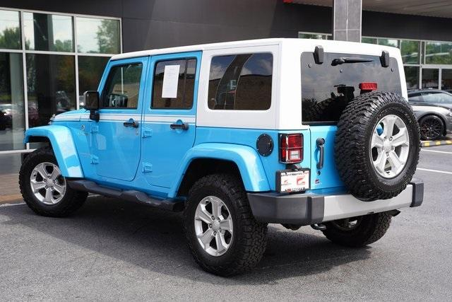 Used 2017 Jeep Wrangler Unlimited Sahara for sale $39,992 at Gravity Autos Roswell in Roswell GA 30076 12