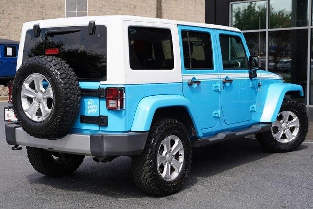 Used 2017 Jeep Wrangler Unlimited Sahara for sale $39,992 at Gravity Autos Roswell in Roswell GA 30076 14
