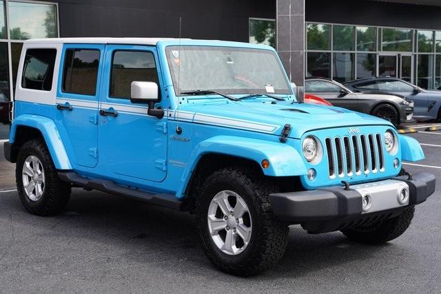 Used 2017 Jeep Wrangler Unlimited Sahara for sale $39,992 at Gravity Autos Roswell in Roswell GA 30076 7