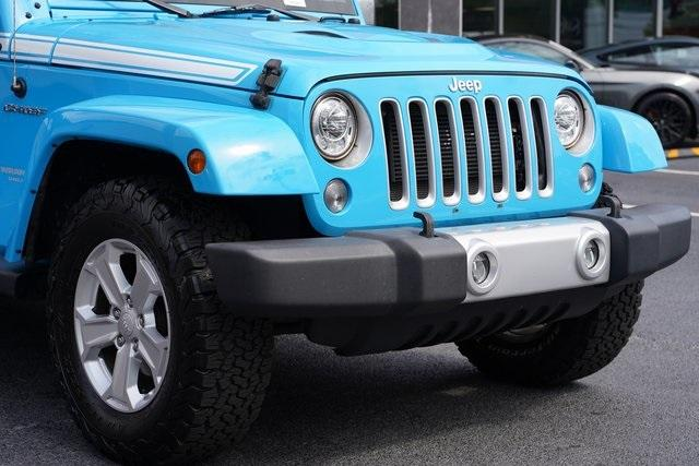 Used 2017 Jeep Wrangler Unlimited Sahara for sale $39,992 at Gravity Autos Roswell in Roswell GA 30076 9